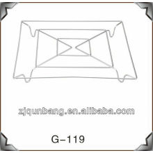 20cm quadratische Haushalt Schüssel Pad & Metall Tisch Matte