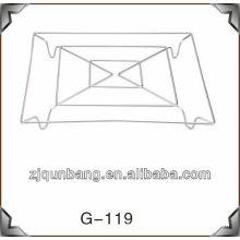 Tazón de fuente cuadrado del tazón de fuente de los 20cm y estera de tabla del metal