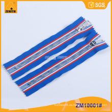 5 # metal cremallera latón cremallera con cinta de moda de encargo ZM10001