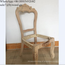 Quadro da mobília da madeira contínua que cinzela o quadro de madeira da cadeira