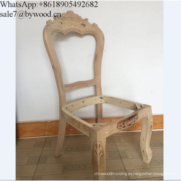 Marco de muebles de madera maciza tallado Silla de madera Marco