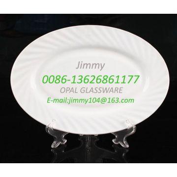 Термостойкая стеклянная кремовая пластина для талии