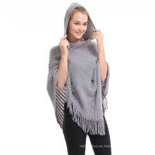 Nuevo estilo stocked señoras de invierno otoño moda mujeres poncho de invierno 2017