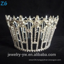 Star Shaped Round Crown Real Diamond Crowns And Tiaras Full Round Star Tiara