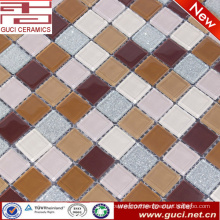 hot sale crystal glass powder mosaic tile for swimming pool wall