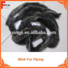 Para o vestuário Chinese Mink Fur Piping
