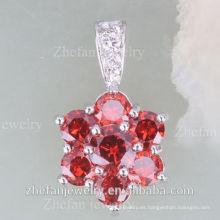 El último diseño indio del collar de la joyería del zirconia cúbico del diseño fijó la joyería plateada rodio es su buena selección