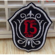 Good quality and embroidered woven patch for coat