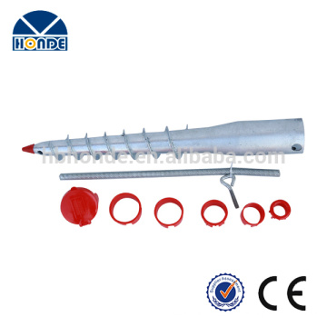 Customized made professional factory made metal ground spike for flag
