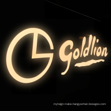 Cost-effective 3D Front LIT Led  Brand Shop Illuminate Signs Logo Resin Channel Letters