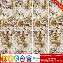 1800x900mm ouro flor arte rústica vitrificada telhas cerâmicas finas