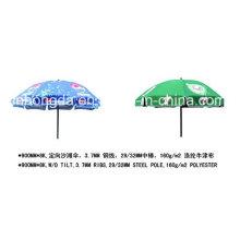 Parapluie de soleil de plage imprimé par logo professionnel extérieur avec des glands (YSBEA0023)