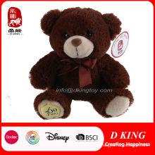 Urso de pelúcia de urso de pelúcia personalizado com fita