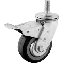 Heavy Duty PU M20 Thead Swivel Caster com freio