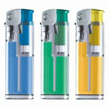 Portable plastic disposable lighters, refillable and security, good choice for promotional gifts