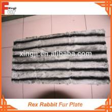 Nouveau Plaque en fourrure de lapin Chinchilla Design Rex