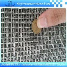 Malla de alambre cuadrada prensada utilizada en la fábrica