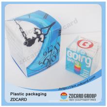 Emballage clair clair de cylindre de boîte en plastique de forme ronde