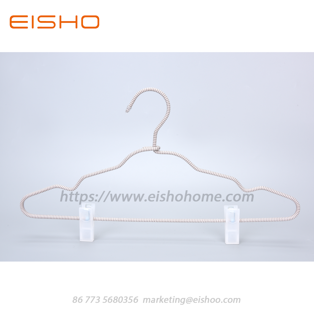 14 Eisho Cord Covered Coat Hangers With Clips