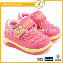 2015 Real Patch Hook & Loop (липучка) Baby Girl Tpr Хлопчатобумажная ткань Chaussure Enfant Красивая зимняя детская обувь для девочек Hot Sale