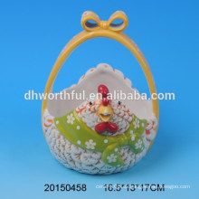 Cestas de almacenamiento de huevos de Pascua de cerámica para el día de Pascua