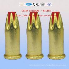 Clou de tir de tête de balle de bâtiment, pistolet de clou, pilule de tir de clou