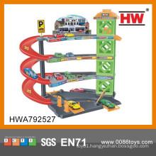Hot Sale Plastic Kids Car Parking Garage Toy