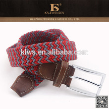 Lastest design direct cheap knit hottest selling braided cotton cord belt