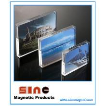 Marco de fotos magnético de acrílico / decoración de escritorio