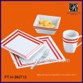 16 pcs square dinnerware