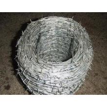 Valla de alambre de púas doble torcido galvanizado
