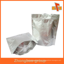 Biodegradável Reselável Ziplock Folha de alumínio embalagem saco para lanche