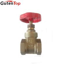 Válvula de porta de bronze do punho do ferro da porta cheia de Guten Top DN20