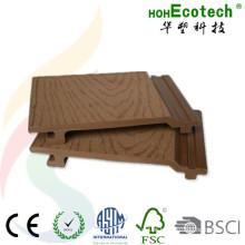 Revestimento de parede exterior de madeira composto de plástico