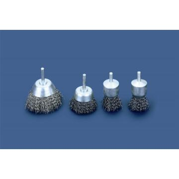Shaft mounted cup brushes industrial type