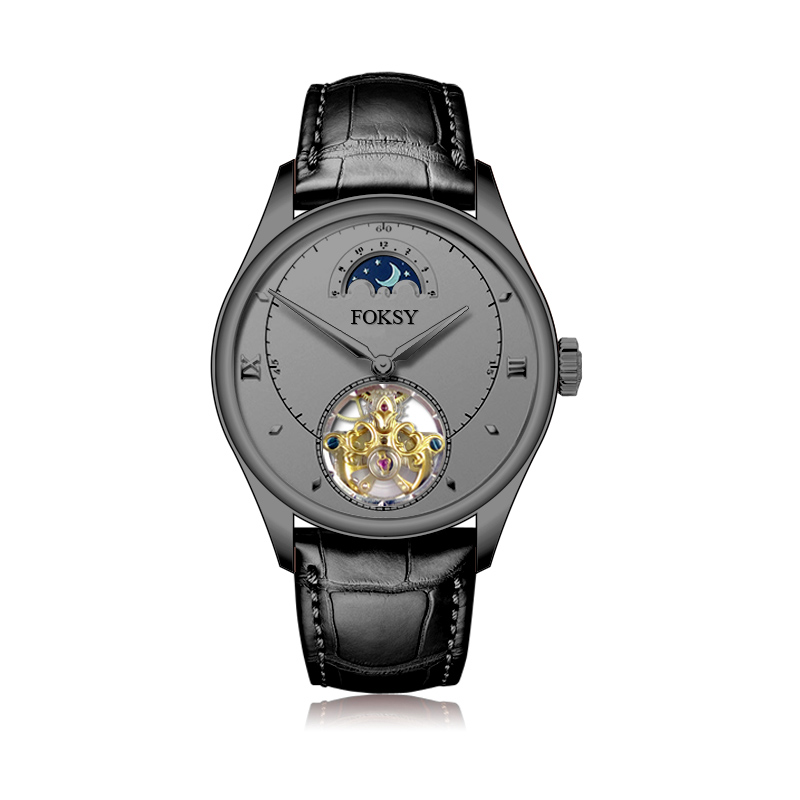 Fast Custom Brand Your Logo Men Tourbillon Automatic Watch