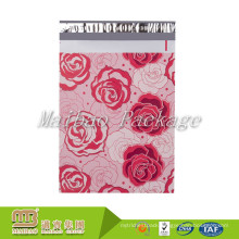 Tear Proof Self Adhesive Sealing Strip 2 Mil 3Mil 4Mil Custom Pink Rose Design Poly Mailer 10 X 13