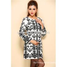 New Design Western Style Round Neck Women Autumn Coat 2015 ladies long coats