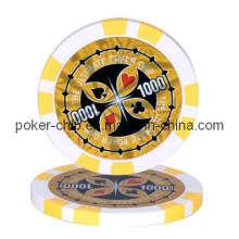 13.5g Chips de póquer de la etiqueta engomada (SY-E09)