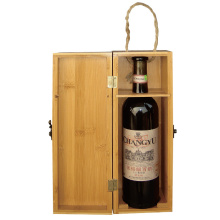 Bamboo wine box wooden olive oil bottle holder
