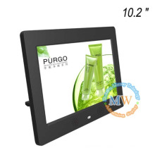Multi functional LCD 10 inch digital photo frame with VESA mounting wall