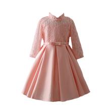 2018 Elegant Traditional Chinese Long-sleeve Workmanship Children Wedding dress