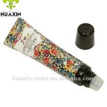 Batons de cosméticos, tubo de bálsamo labial redondo com êmbolo interno