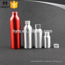Hot sale sports aluminum cosmetic bottle with screw aluminium cap