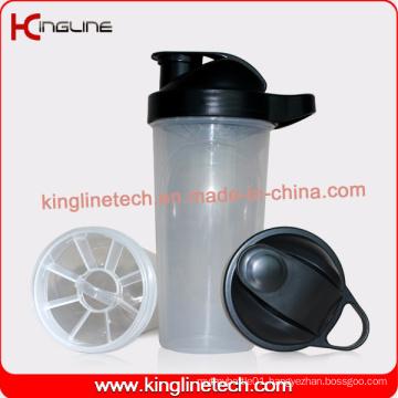 Eco-Friendly 700ml Plastic Custom Protein Shaker Bottle with Filter Wholesaler (KL-7031)