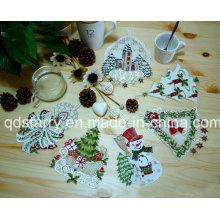 Weihnachtsband Deckchen St1767