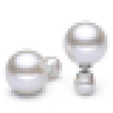 Pendientes de perlas de plata de ley 925 del temperamento de las mujeres