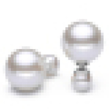 Mulheres Temperamento 925 Sterling Silver Pearls Earrings