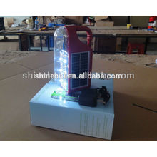 Solar camping lanterna vidro abajures lâmpada solar manivela