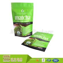 Kundenspezifischer Eigenmarke-Heißsiegel-runder unterer leerer Matcha-Teebeutel-verpackender Großverkauf